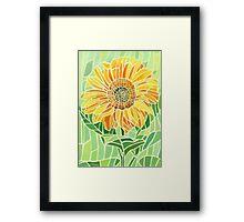 Sunflower Mosaic Artwork Framed Print