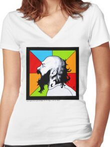 Shout Women's Fitted V-Neck T-Shirt