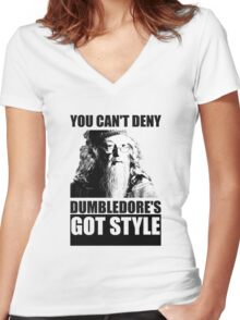 Dumbledore's got style Women's Fitted V-Neck T-Shirt