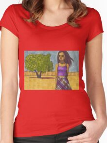 Fade into You Women's Fitted Scoop T-Shirt