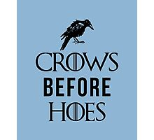 Crows Before Hoes in White Photographic Print