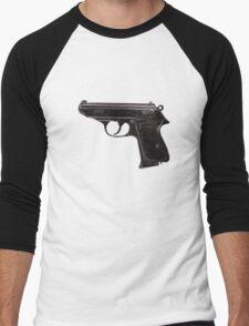 Gun - Pistol - Walther PPK Men's Baseball ¾ T-Shirt