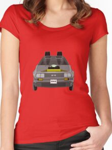 Delorean DMC-12 de Regreso al Futuro Women's Fitted Scoop T-Shirt