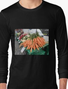 Vegetables for Sale Long Sleeve T-Shirt