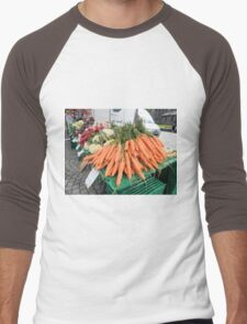 Vegetables for Sale Men's Baseball ¾ T-Shirt