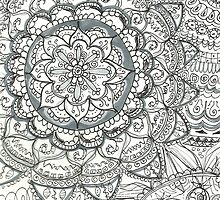 Floral Tangle, squared by LornaMiser