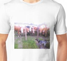 Go away you cows this is my water !. Unisex T-Shirt