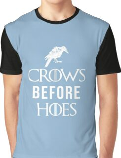 Crows Before Hoes in Blue Graphic T-Shirt