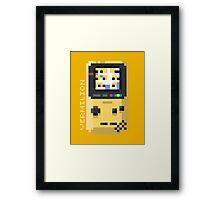 Vermilion - Pixel Cities Serie 10/10 Framed Print