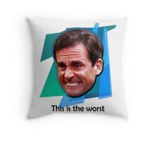 Michael Scott Ugly Cry Face Throw Pillow