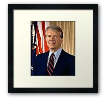 Jimmy Carter US President Framed Print