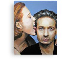 David Duchovny Gillian Anderson X Files Lick Pic Painting Canvas Print