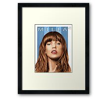 My name is MILLA (portrait of Milla Jovovich) Framed Print