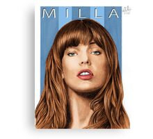 My name is MILLA (portrait of Milla Jovovich) Canvas Print