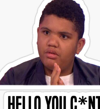 Hello You C*nt | Harvey Price Sticker