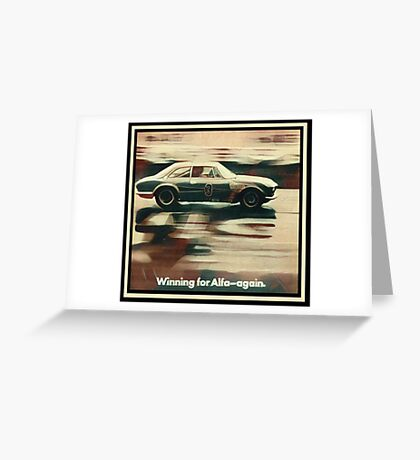 Alfa Romeo Giulia Sprint GTA Greeting Card