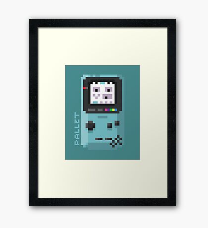 Pallet - Pixel Cities Serie 8/10 Framed Print