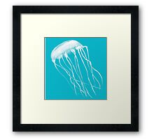 Turquoise Jelly Fish 1 Framed Print
