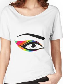T-shirt eyes color Women's Relaxed Fit T-Shirt