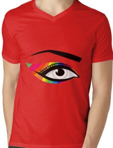 T-shirt eyes color Mens V-Neck T-Shirt