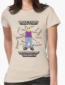 Rose Tyler - Defender of the Earth Womens Fitted T-Shirt