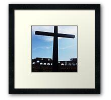 Crucifix Over Colosseum  Framed Print