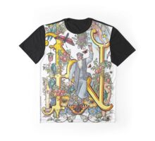 The Illustrated Alphabet Capital N (Fuller Bodied) from THE ILLUSTRATED MAN Graphic T-Shirt