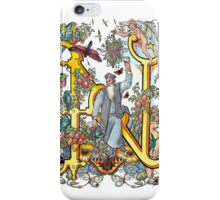 The Illustrated Alphabet Capital N (Fuller Bodied) from THE ILLUSTRATED MAN iPhone Case/Skin