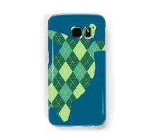 Argyle Turtle Samsung Galaxy Case/Skin