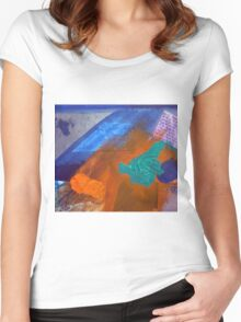 Collage Nr. 2: horse Women's Fitted Scoop T-Shirt