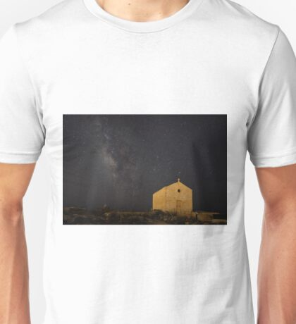 A Huge Galaxy and a Tiny Chapel Unisex T-Shirt