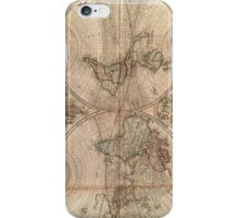 Vintage Map of The World (1709) iPhone Case/Skin