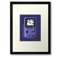 Cerulean - Pixel Cities Serie 1/10 Framed Print