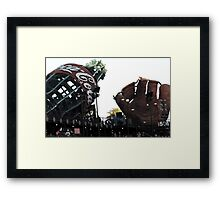 AT&T Park Coke Bottle and Glove Framed Print