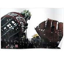 AT&T Park Coke Bottle and Glove Poster