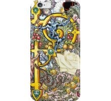The Illustrated Alphabet Capital P (Fuller Bodied) from THE ILLUSTRATED MAN iPhone Case/Skin
