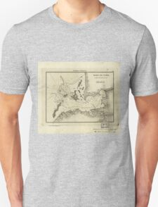 Vintage Map of Tampa Florida (1809) Unisex T-Shirt