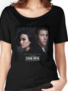 Demi Lovato & Nick Jonas Women's Relaxed Fit T-Shirt
