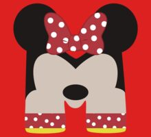 M is for Minnie One Piece - Short Sleeve