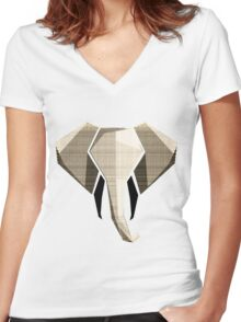 A Wool Elephant Women's Fitted V-Neck T-Shirt