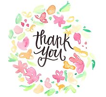 Thank You Floral by tonyarenee