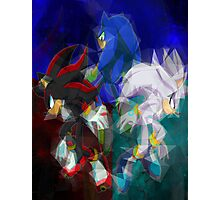 Sonic, Shadow, Silver Photographic Print
