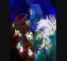 Sonic, Shadow, Silver Unisex T-Shirt