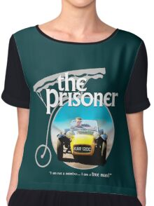 the prisoner  (i'm not a number i am a free man) Chiffon Top