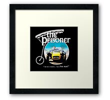 the prisoner  (i'm not a number i am a free man) Framed Print