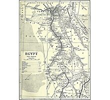 Vintage Map of Egypt (1911) Photographic Print