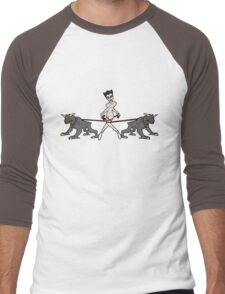 Gozer Walks Her Terror Dogs Men's Baseball ¾ T-Shirt
