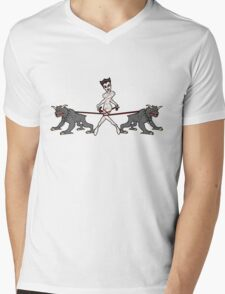 Gozer Walks Her Terror Dogs Mens V-Neck T-Shirt