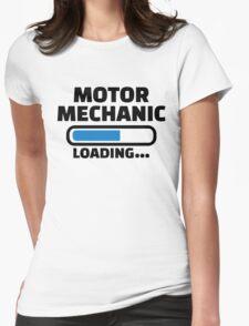 Motor mechanic loading Womens Fitted T-Shirt