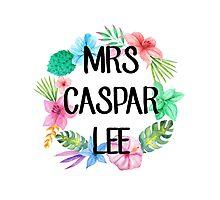 Mrs Caspar Lee – Floral, YouTube Photographic Print
